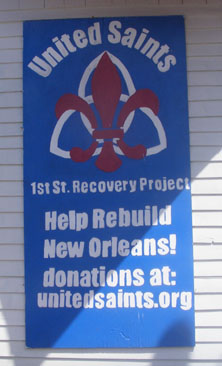 United Saints Recovery Project, Hurricane Katrina, Daryl Kiesow, Central City New Orleans, First Street and Dryades, First Street Peck & Wesley
